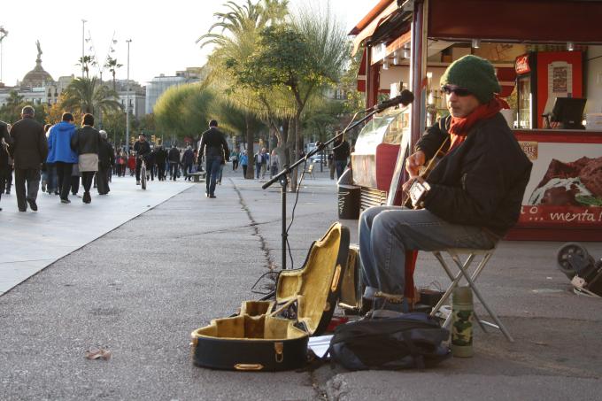 barcelona artisti di strada