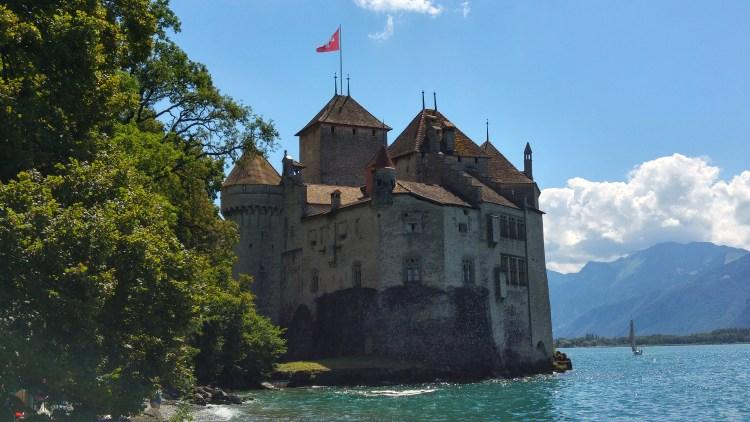 lo chateaux-de-chillon nella svizzera francese