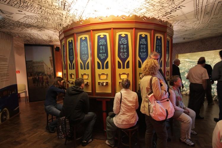 foto storiche di cracovia nella fabrica museo oskar schindler