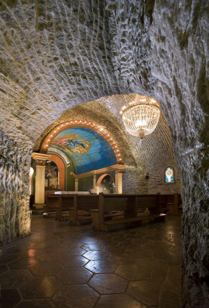cappella nella miniera di sale di wieliczka