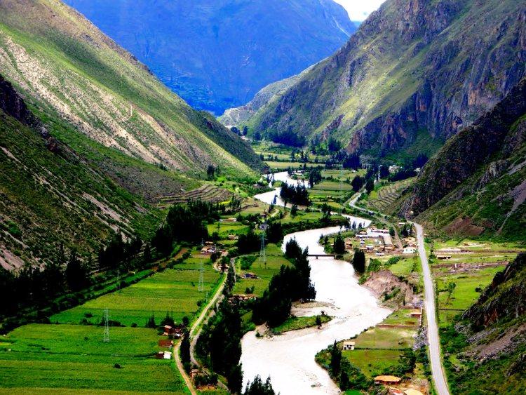 panoramica della valle sacra degli inca