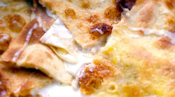pezzi di focaccia di Recco col formaggio