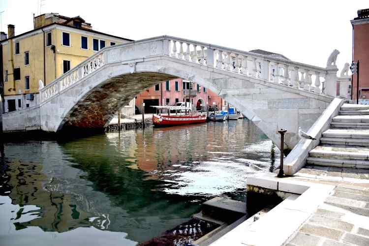Il ponte di vigo nel centro storico di Chioggia