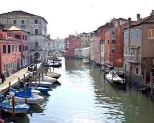 Vista del Canale Vena dal Ponte di Vigo nel centro storico di Chioggia