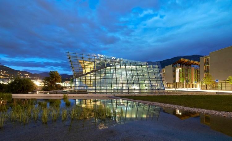 l'architettura dell'edificio del MUSE Museo di Scienze di Trento