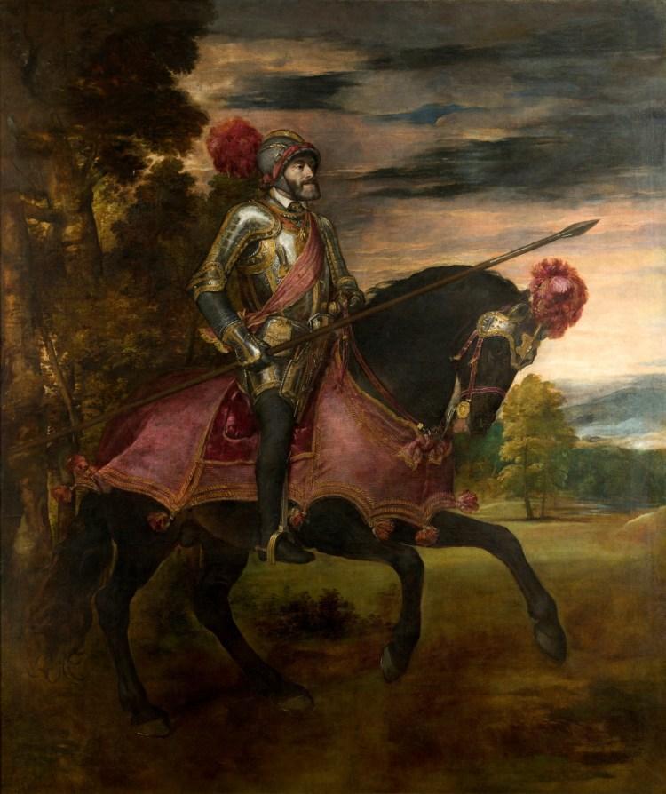 carlo V nella Battaglia di Muhlberg del Tiziano al Museo del Prado