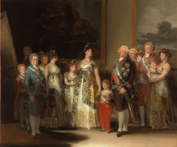 la famiglia di carlos IV di goya al museo del prado