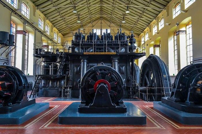 il locale della nave de motores della metro di madrid