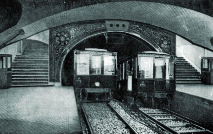 linea 1 di metro madrid nel 1919