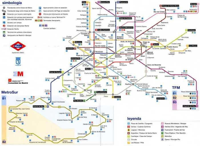 cartina metro madrid 2019