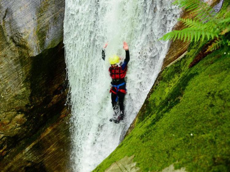 canyoning nella Valle Riviera nel Canton Ticino