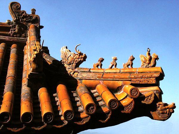 i piccoli animali sui tetti della Città Proibita di Pechino