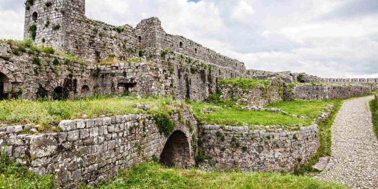 castello di rozafa castle a scutari in Albania