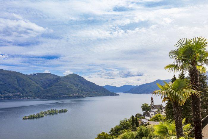le isole di Brissago nel Canton Ticino in Svizzera