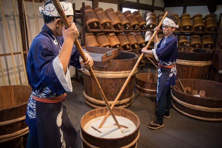 il processo di produzione del sake