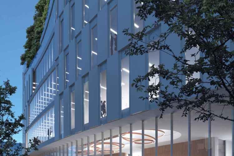 edificio moderno di Tirana