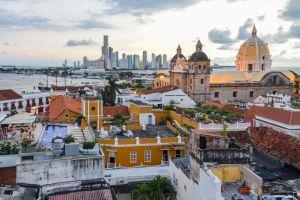una panoramica della città vecchia di Cartagena de Indias