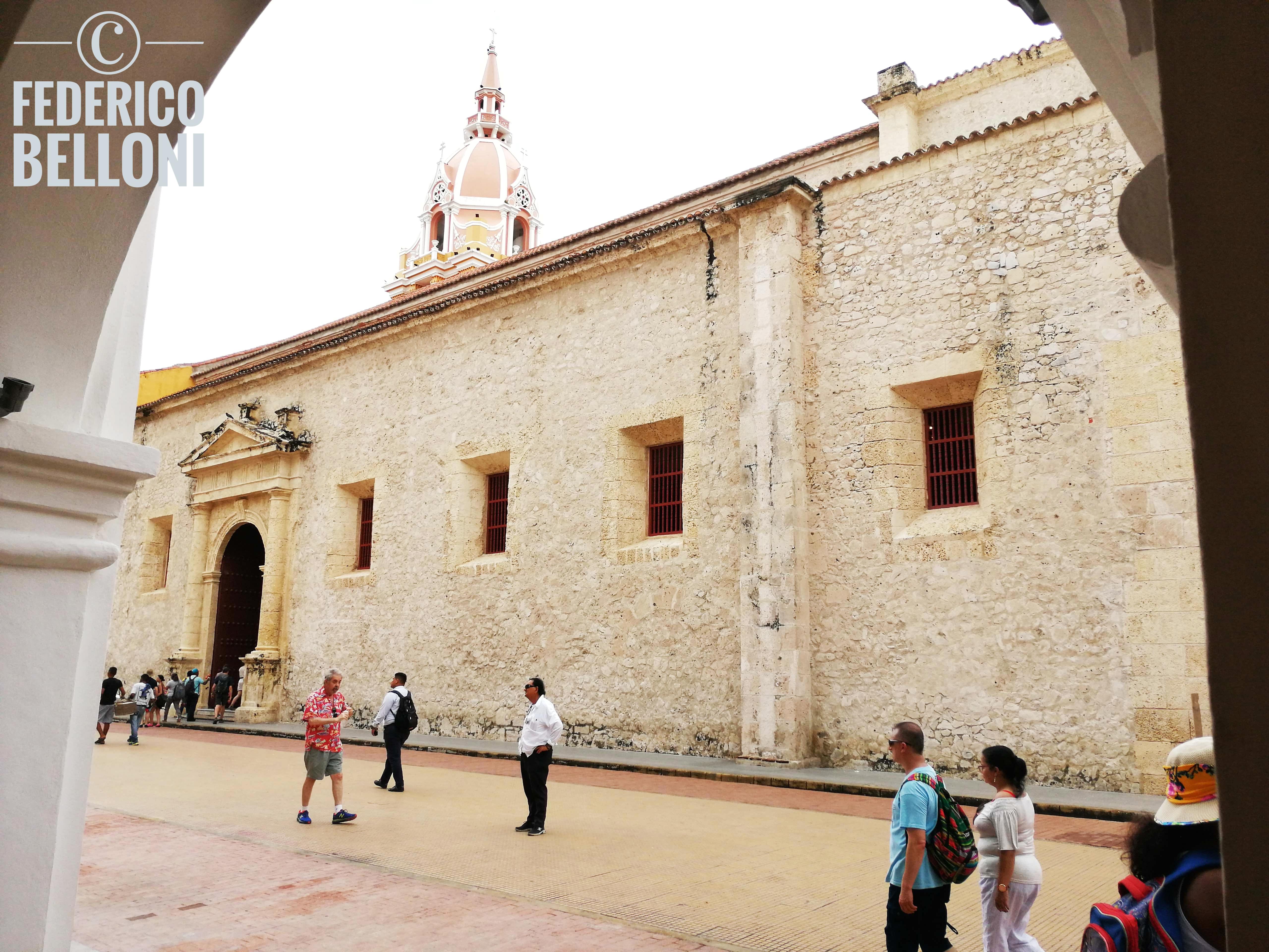 muro laterale catedral de cartagena de indias