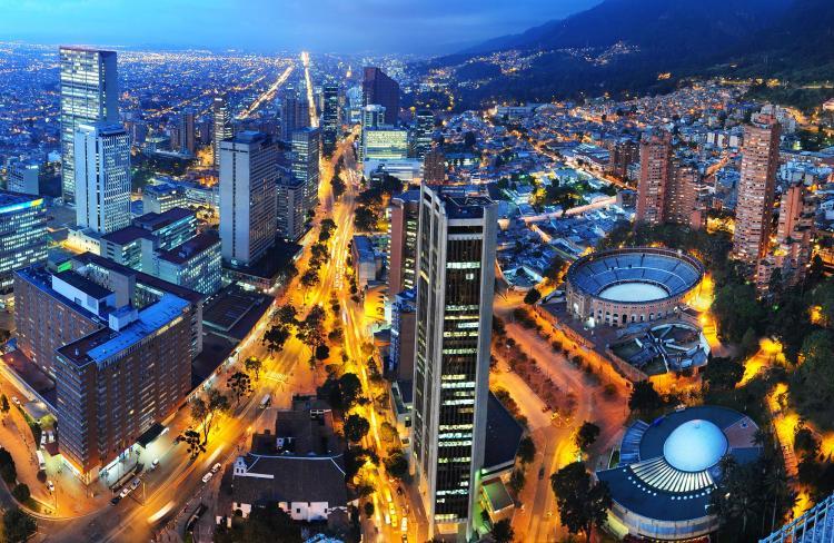 Una bellissima vista di Bogotá in Colombia