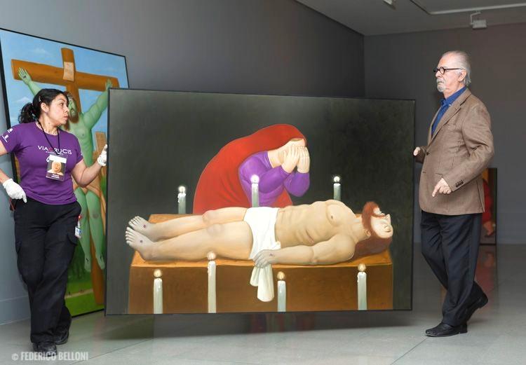 Alcune opere esposte nel Museo de Antioquia di Medellin