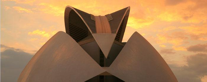 un dettaglio dell'opera house-palau de les arts reina sofía