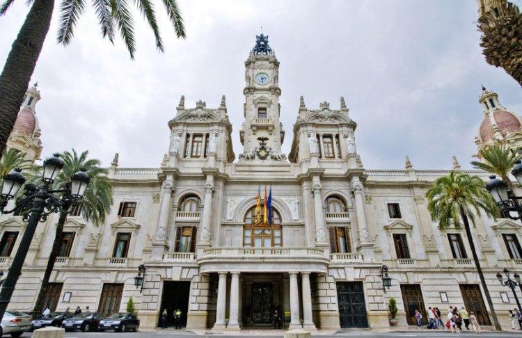 il palazzo del ayuntamiento della capitale della comunidad valenciana