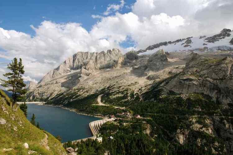 i panorami dell'Itinerario giallo della via alpina della val di fassa
