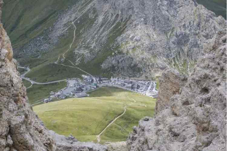 il panorama del Sass Pordoi a Canazei in Val di Fassa