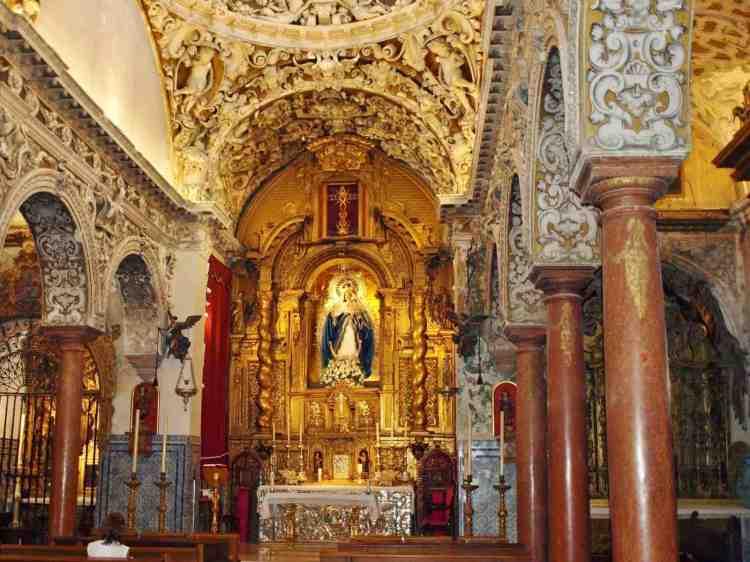 gli interni di santa maria la blanca a sevilla