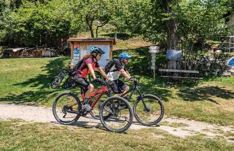 una passeggiata soft in mountain bike nei percorsi pianeggianti