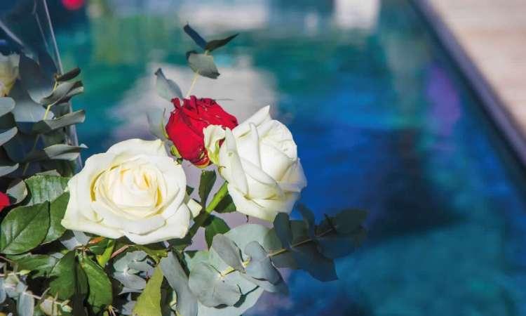 dettaglio piscina dell'hotel le mandla uno dei migliori hotel a saint tropez