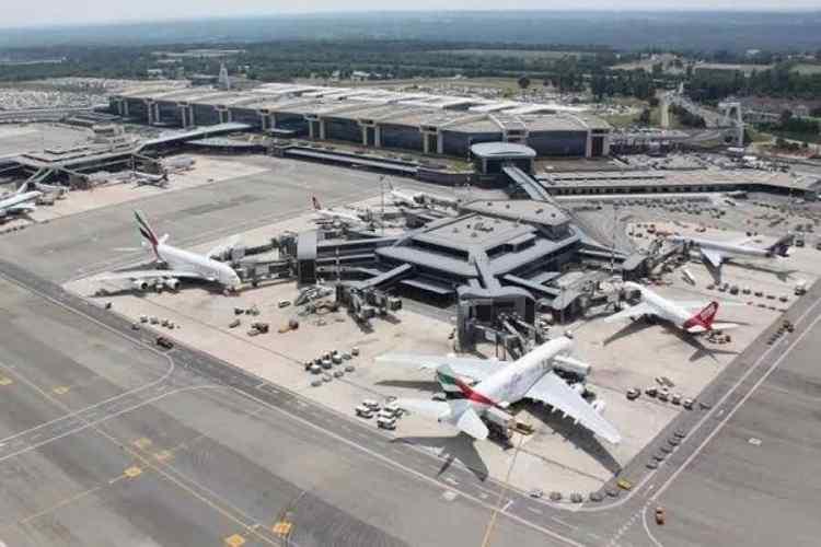area delle operazioni dell'aeroporto di malpensa