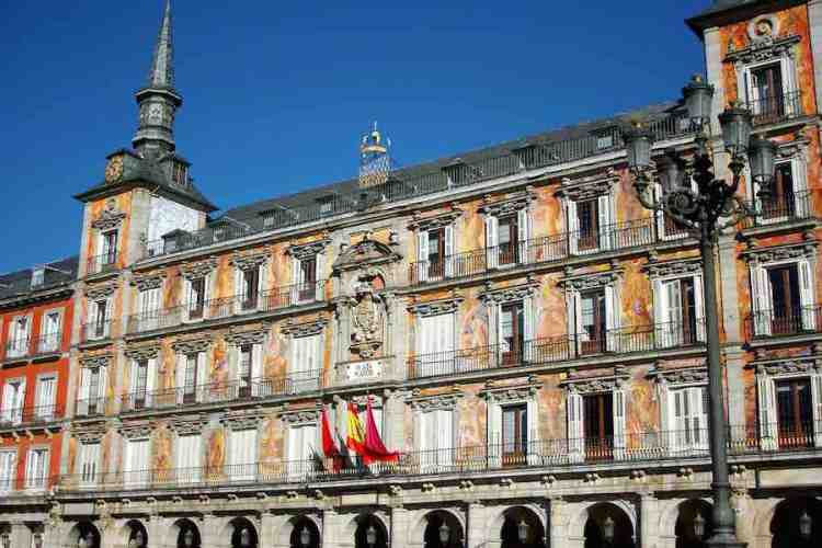 edificio antigua panadería nella plaza mayor di madrid