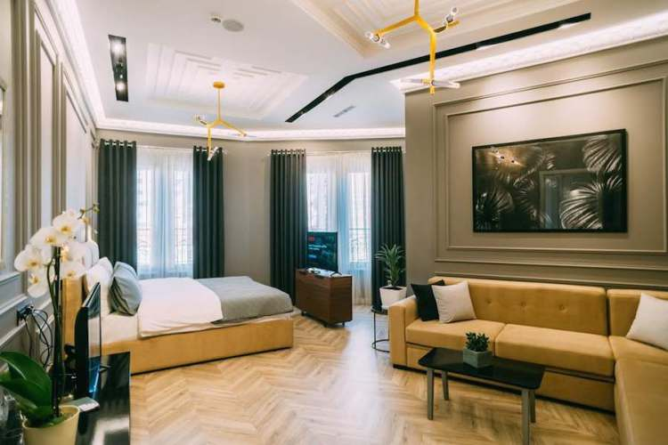 una suite dell'hotel stela center di tirana
