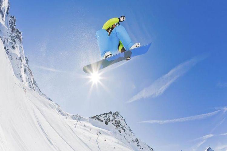 snowboard in val gardena