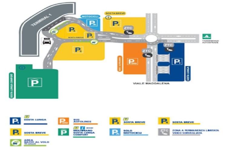 mappa parcheggi aeroporto capodichino