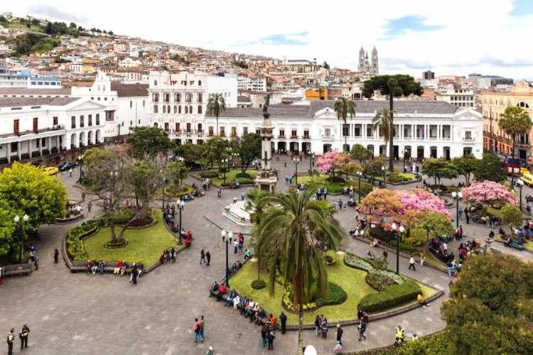 il centro storico coloniale di quito capitale dell'ecuador