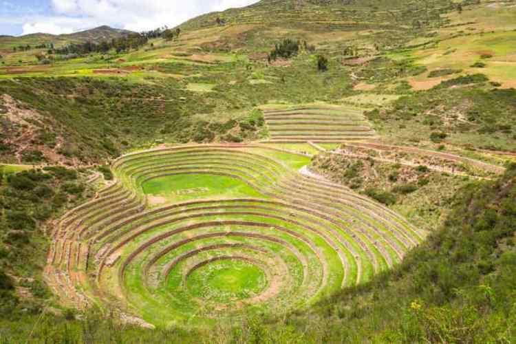il sito archeologico di moray vicino a cuzco