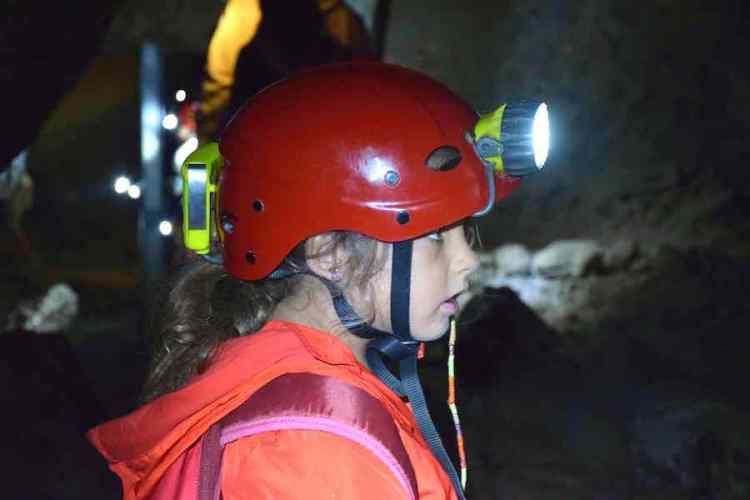 durante l'esplorazione delle grotte di onferno