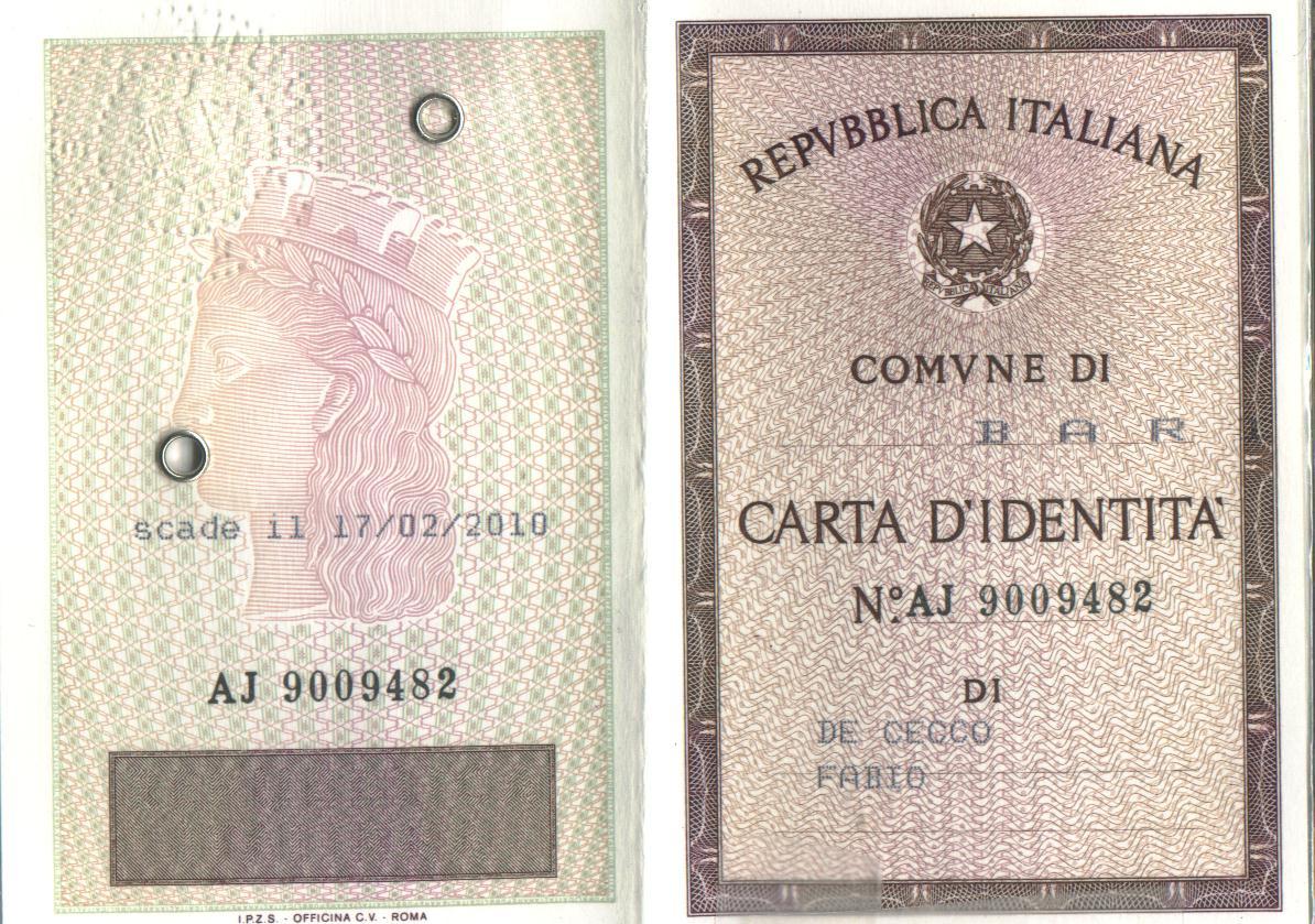 Come Avere Carta Identità Valida Per Espatrio