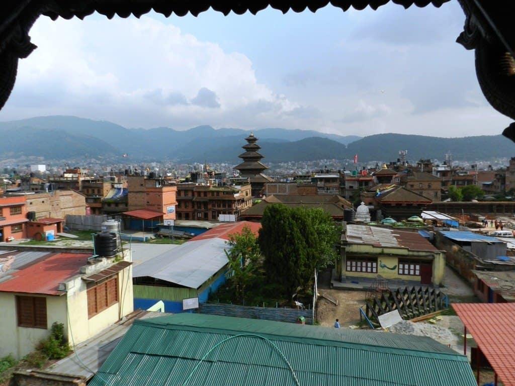 Panorama di Bhaktapur dalla camera