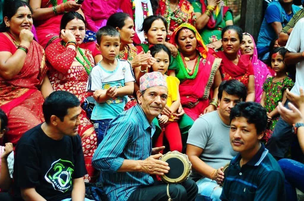 Gruppo di nepalesi