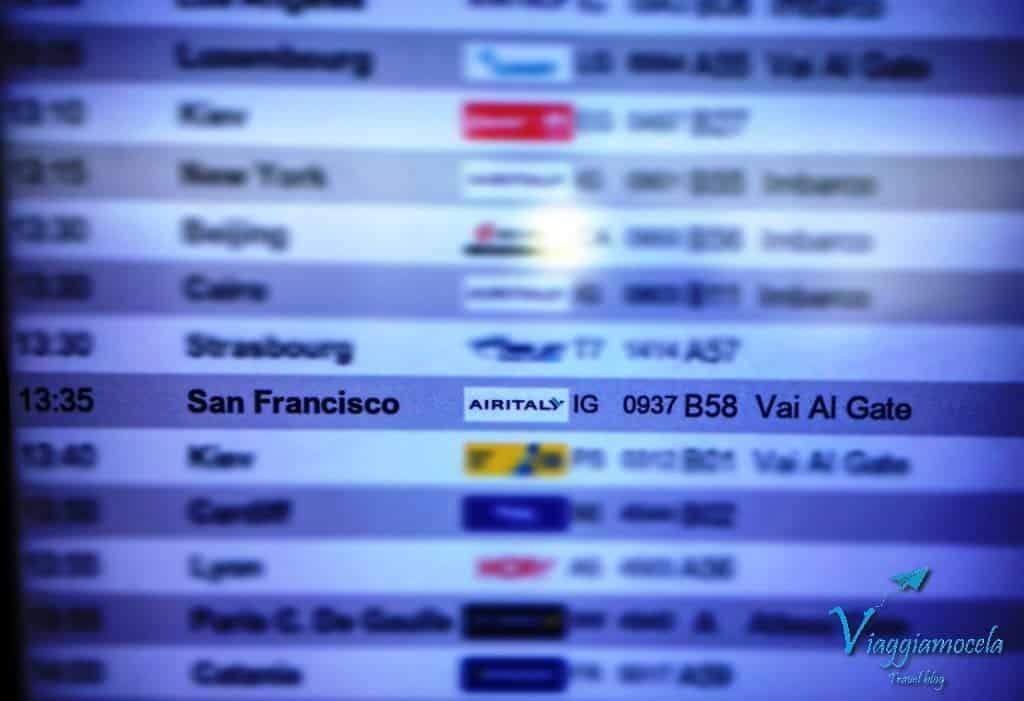 Volo Air Italy per San Francisco