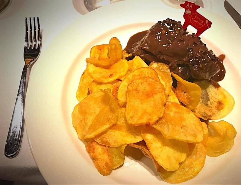 Filetto di manzo al pepe nero e salsa al vino rosso, Don Juanito - Milano