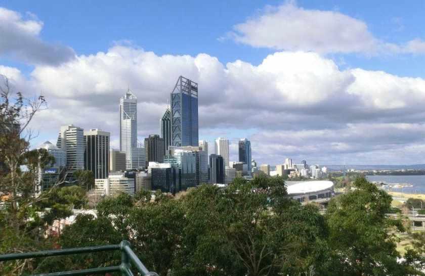 Lo skyline di Perth