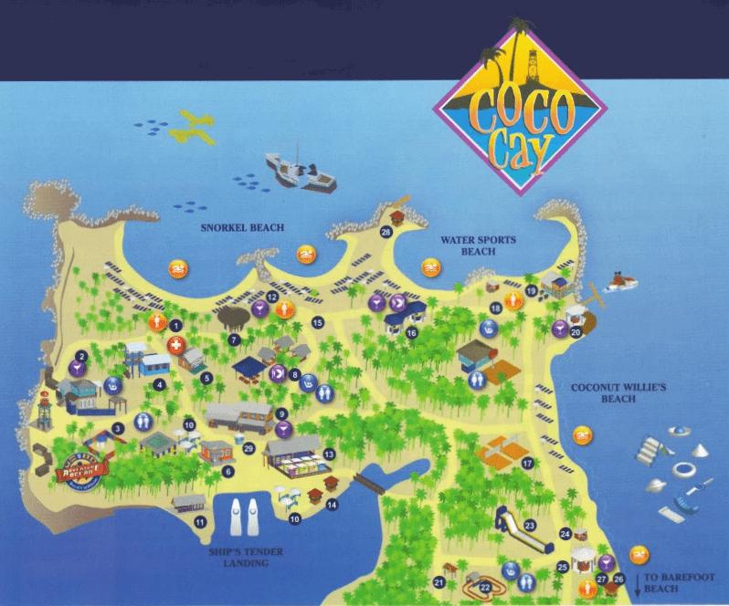 Mappa di Cococay