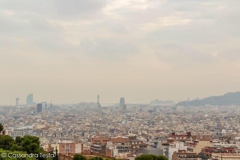 Vista di Barcellona da Parco Güell