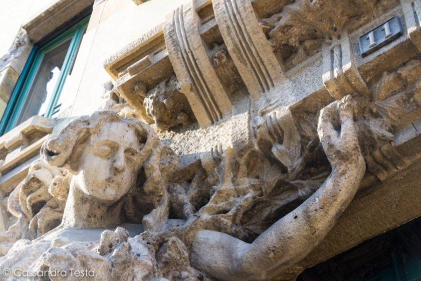 Dettaglio di Casa Campanini, Milano
