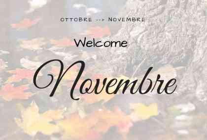 Welcome Novembre