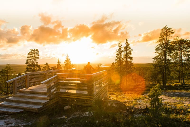 Rovaniemi in Autunno Sole